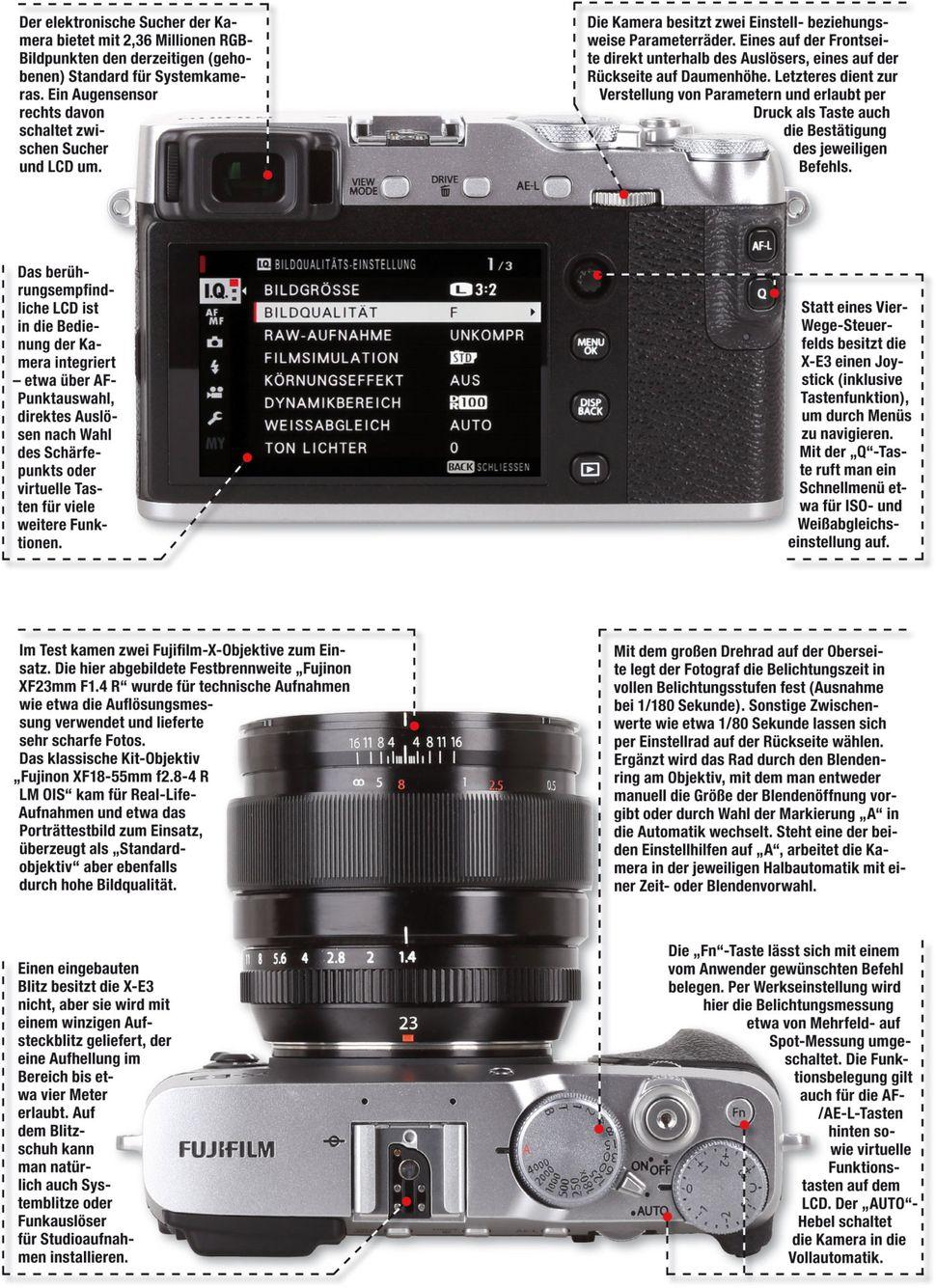 Kameratest Fujifilm X E3 Foto Hits Magazin Kit Xf 23mm F2 Black 35mm Aufbau