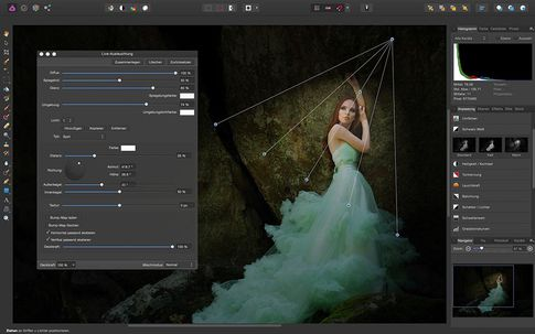 Affinity Photo: Filterfunktion im Live-Bild