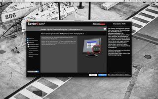 """Die Spyder-Software stellt die Farbtemperatur des Monitors auf """"Tageslicht"""" ein."""