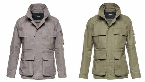 "Cooph Field-Jacke: ""Taupe"" (links) und ""Olive"" (rechts)."