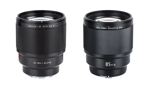 Links: Viltrox FE-85 mm f/1.8 Mark II, rechts: Viltrox FX-85 mm f/1.8 Mark II
