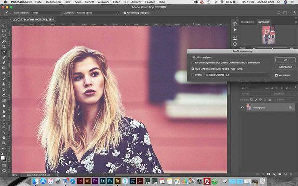 """Wurde das Bild mit dem Farbprofil """"AdobeRGB"""" aufgenommen oder aus dem Raw-Zustand entsprechend gespeichert, gilt bei Übergabe zum Dienstleister einiges zu beachten."""