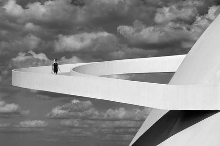 Girl descending a ramp, Brasilia 2012. © Olaf Heine + Courtesy CAMERA WORK