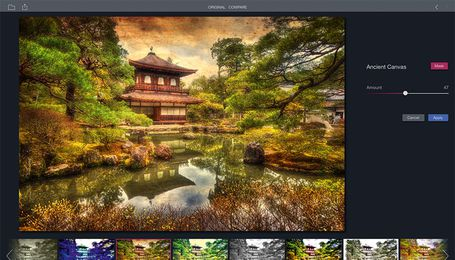 "Macphun - ""Filters for Photos"": Beispiel ""Ancient Canvas"""