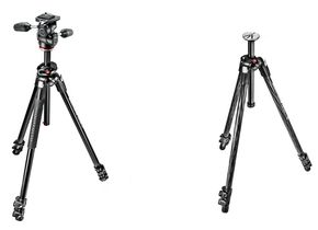 Links: Manfrotto 290 Dual Alu, rechts: Manfrotto 290 Xtra Carbon