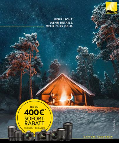 Sofort-Rabatt-Aktion bei Nikon Mit 400 Euro Cashback in die Herbst-Winter-Saison