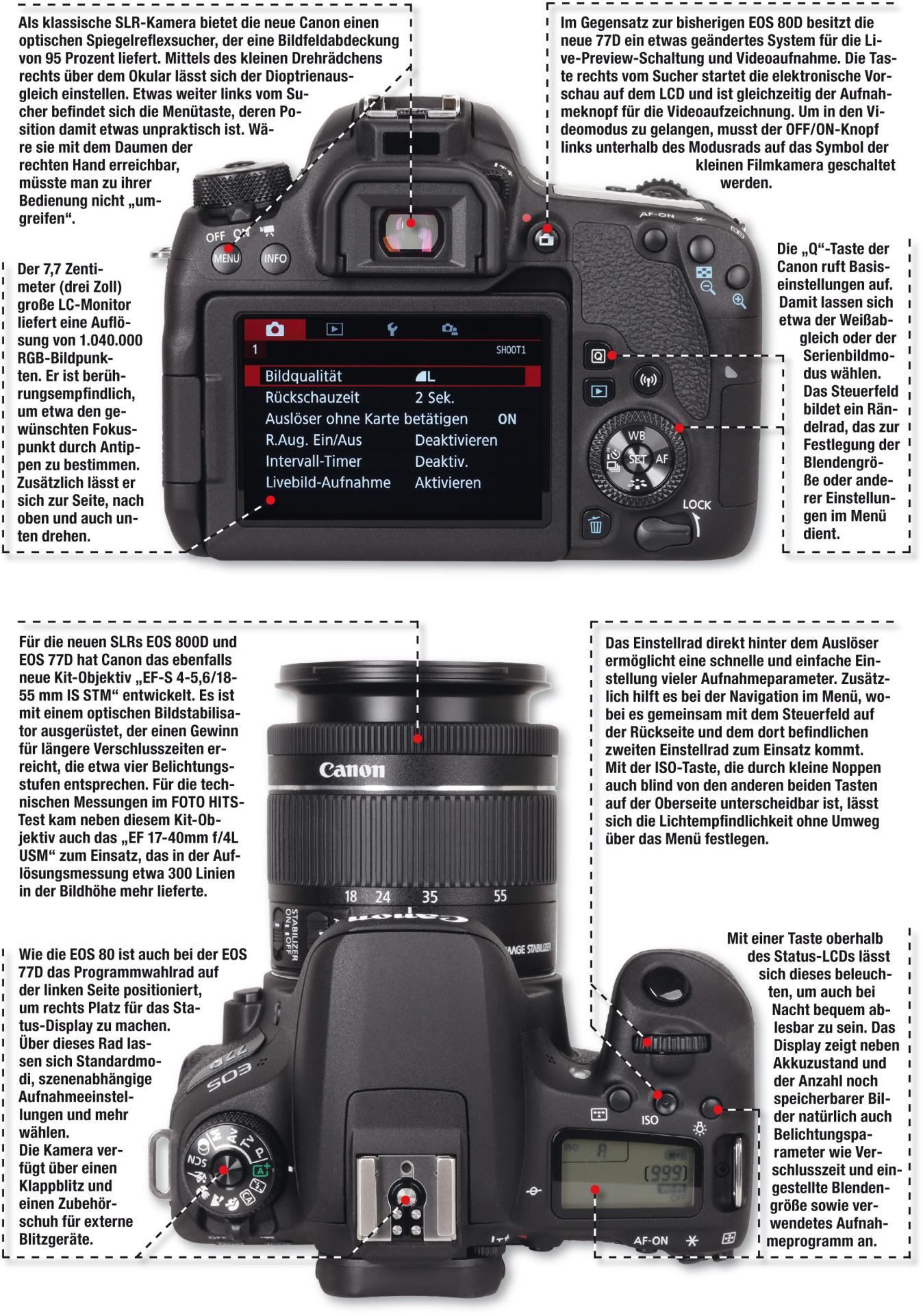 Kameratest Canon Eos 77d Foto Hits Magazin 750d Kit Ef S18 55mm Is Stm Eos750d 750 D Aufbau