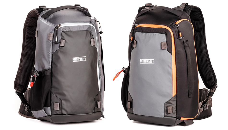 Der MindShift Gear PhotoCross 13 Backpack in Carbon Grey und Orange Ember