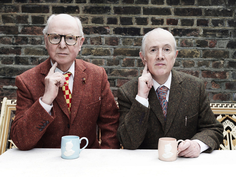 Gilbert & George, 2015, Foto: Tom Oldham.