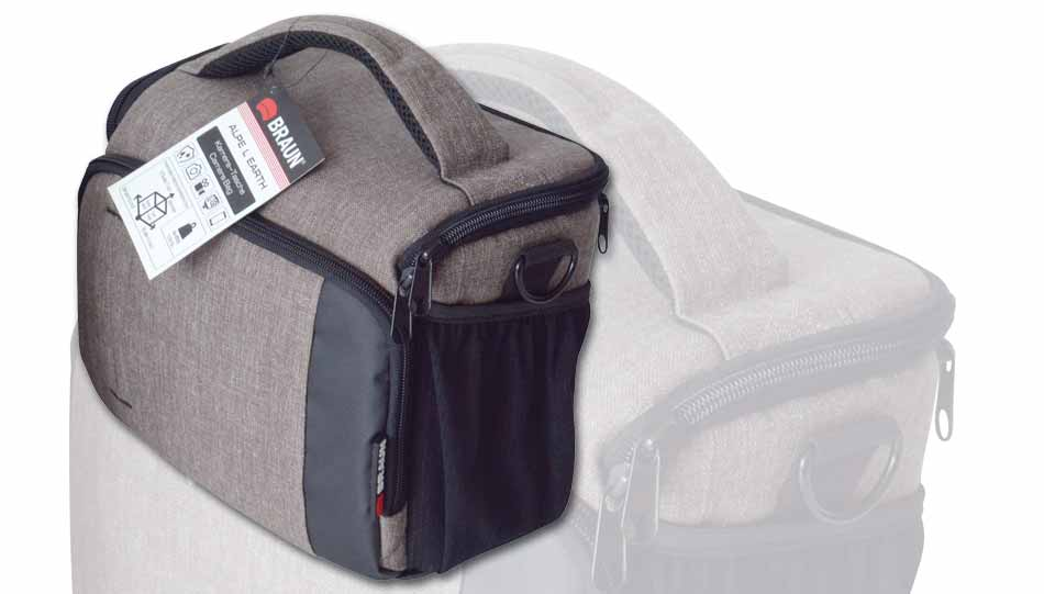 """36b8128c4f4b0 Die Fototaschen der Alpe-Serie sind in drei Größen und zwei Farbgebungen  erhältlich. Braun """"Alpe Eiger Backpack"""""""