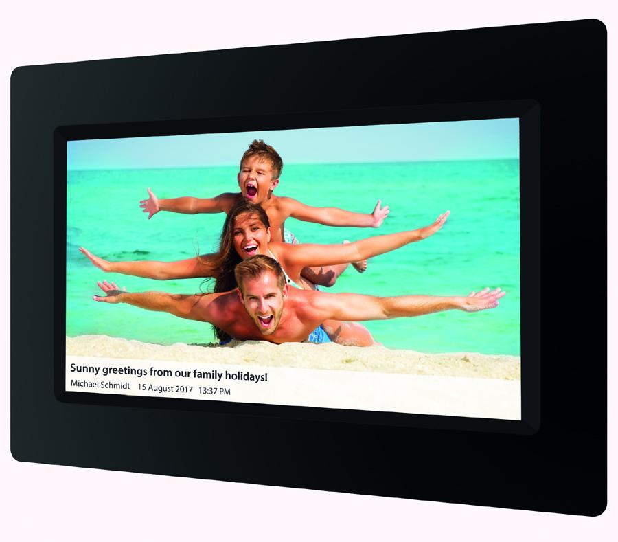 digitale bilderrahmen braun 1010 wifi foto hits news. Black Bedroom Furniture Sets. Home Design Ideas