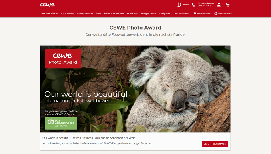 Wettbewerb der Superlative: der Cewe Photo Award