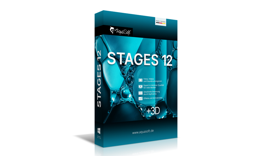 AquaSoft Stages gibt es jetzt in Version 12.