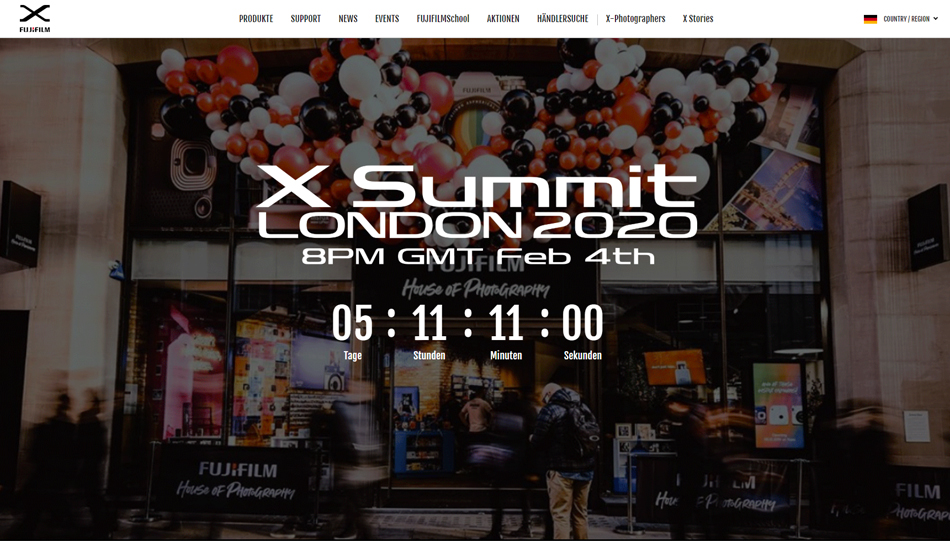 """Fujifilm X Summit"" am 4. Februar 2020"