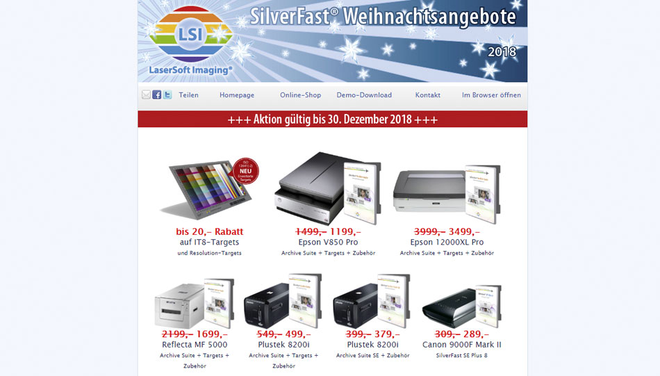Silverfast-Scanner-Software in Bundle-Angeboten