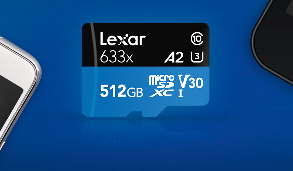 512 GB Lexar High-Performance 633x microSDXC UHS-I