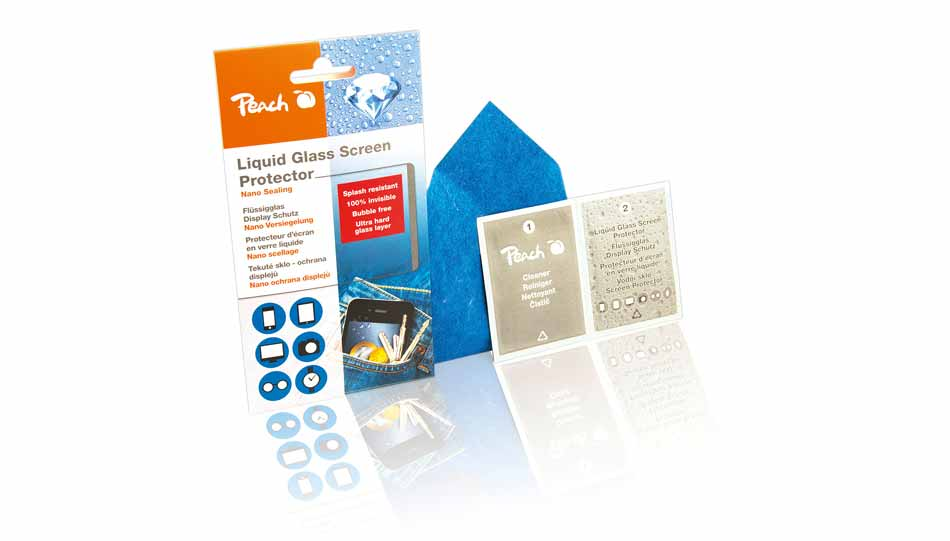 Peach Liquid Glass Protector-Kit