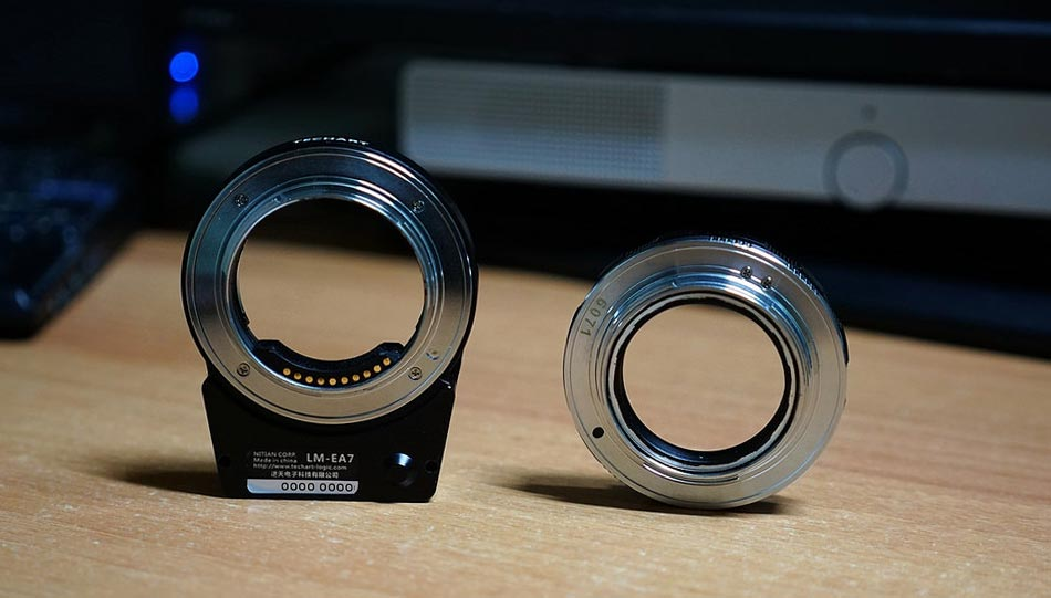 Techart Pro Sony E auf Leica-Adapter mit AF
