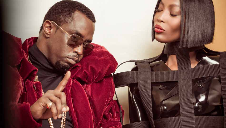 "Sean ""Diddy"" Combs und Naomi Campbell. © From the Backstage of Pirelli Calendar 2018 by Tim Walker - pictures of Alessandro Scotti"